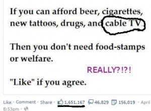 What Do Food Stamps and Cable TV Have in Common?