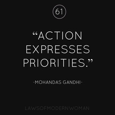 Action Expresses Priorities