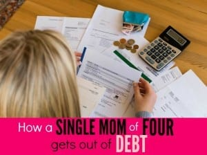 How a Single Mom of Four Gets Out of Debt