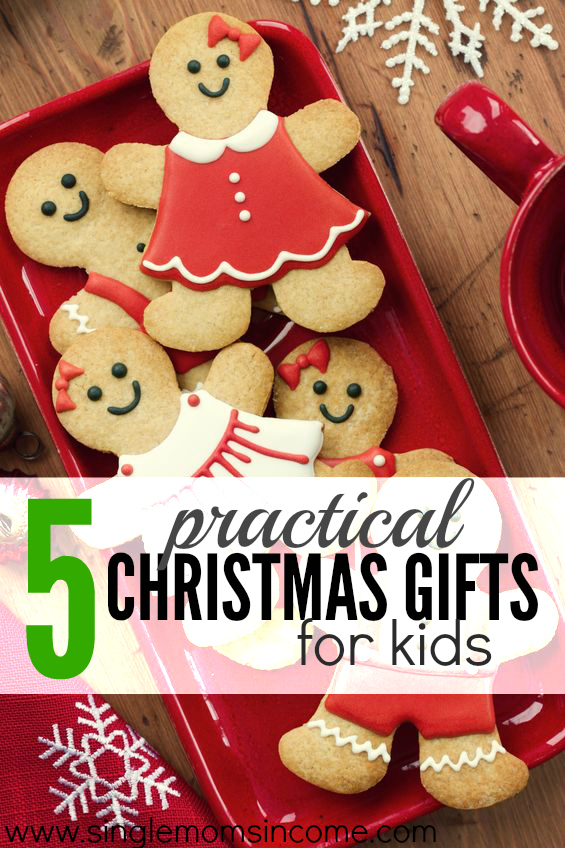 This year I'm vowing to only buy practical Christmas gifts for my kids. Here are five of the items that are on top of my shopping list.
