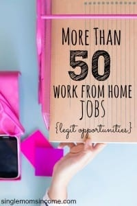 When it comes to working from home there really is something for everyone. This list has over 50 real job opportunities. (Completely scam free list!) There are tons of options, find the one the best suits your personality, schedule and ultimately, your life.