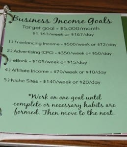 business income goals