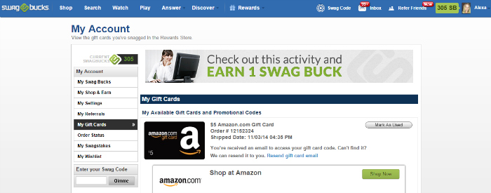My Swagbucks