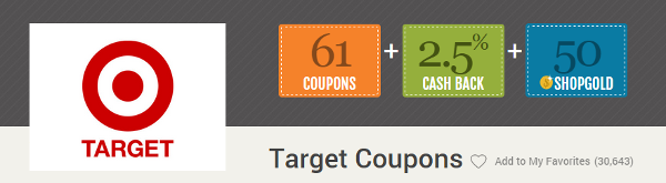 Shop at Home Target Coupons