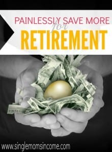 Don't let saving for retirement overwhelm you. With this easy way to save more for retirement you can do your part without even noticing it! Give it a try.