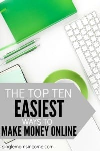 Looking to put a little extra cash in your pocket but don't want to be tied down to a day job? Here are the top ten easiest ways to make money online that anyone can do!