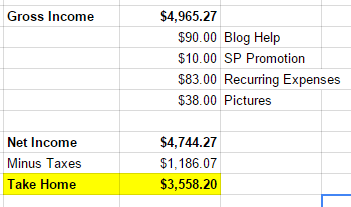 March Blog Income