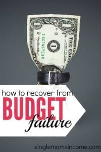 Feeling like budget failure this month? Stop beating yourself up and get back on track, here's what to do.
