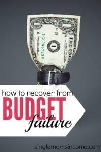 How To Overcome a Budgeting Failure