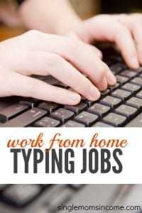 work at home typing jobs single moms income