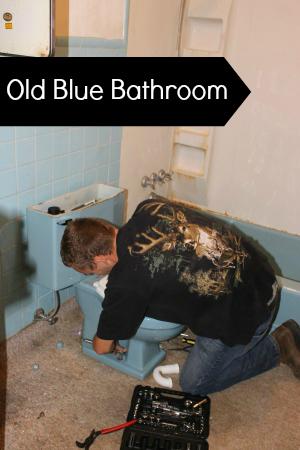 old blue bathroom