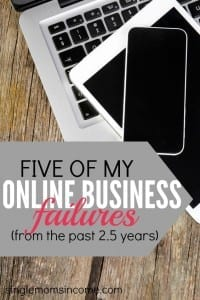 Thinking of starting an online business? Don't be afraid to fail! Here are five of my online business failures from the past 2.5 years. It took me failing this many times to finally find success.