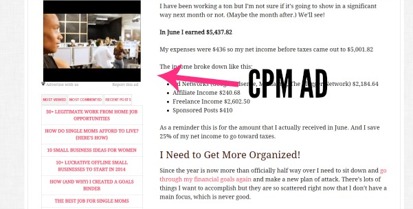 This is what a CPM ad looks like.