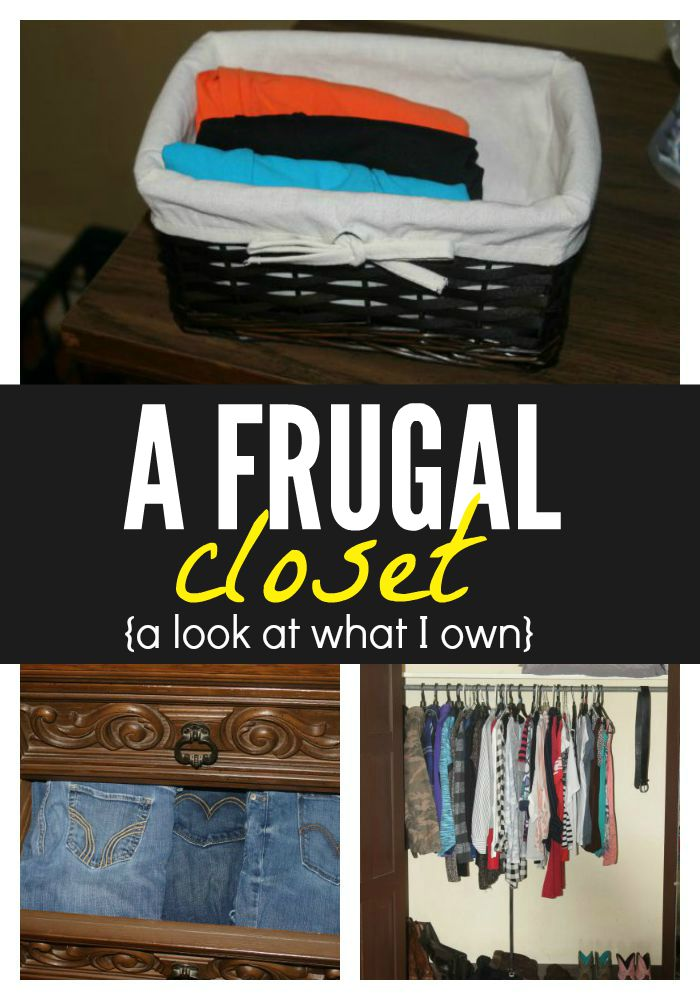 Looking to create your own frugal closet? Here's a look at everything I own and how I am able to keep my closet clean, organized, and most of all - frugal!