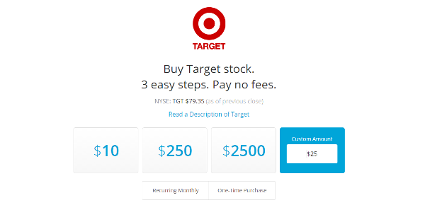 Buying Target stock from Loyal3.com