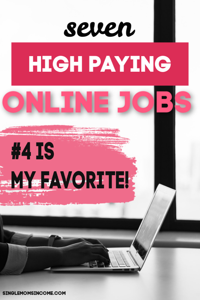 High paying online jobs. I love this list!