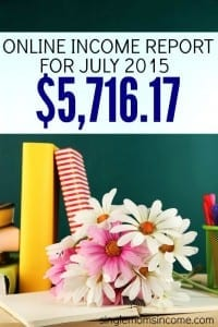 July 2015 Online Income Report