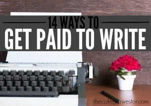ways to get paid to write