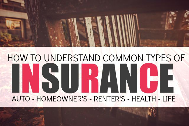 Insurance can be confusing. And honestly, sometimes it seems like a total waste of money - but it's not! Here is some easy to understand information on various types of insurance, including when and why you need certain types.