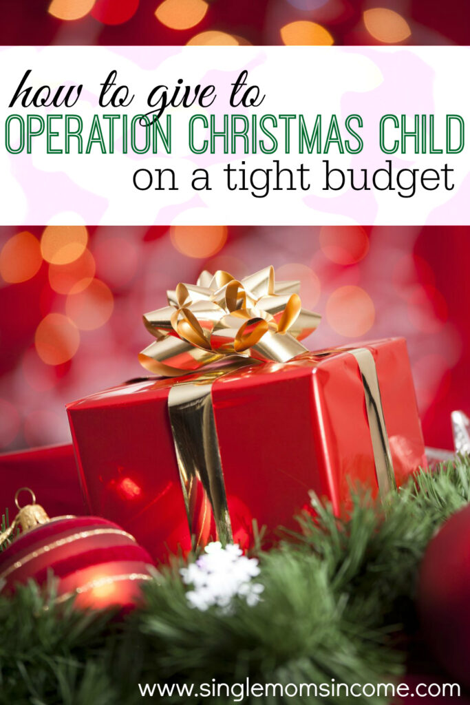 another great way to give operation christmas child single moms