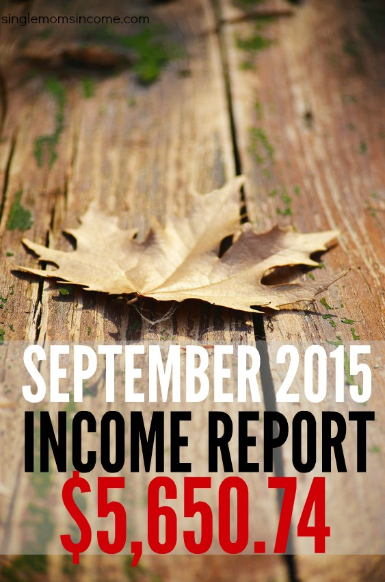 Every month I share how much my online business earns and where it comes from. Here's an income report from September 2015.