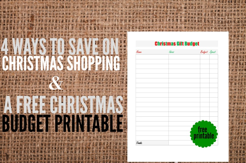 Christmas shopping reminder day falls on Nov. 26th. Here are four savings tips as well as a Christmas budget printable to go along with your planning!