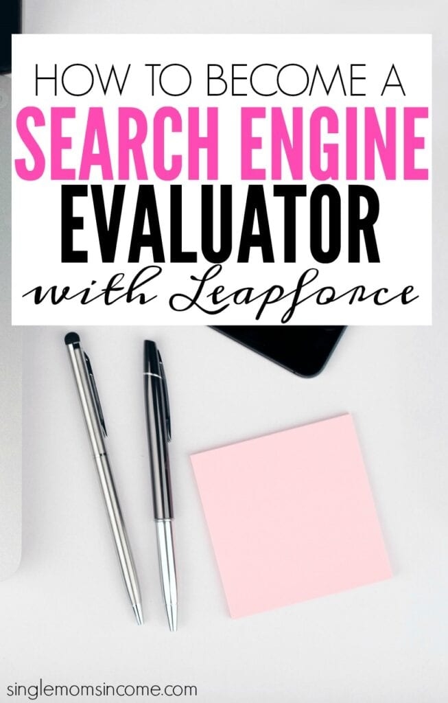 Leapforce is looking to fill Search Engine Evaluator positions. This is a part time, work from home position. See details below if you're interested in applying!