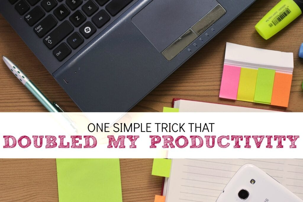 I sometimes get asked how many hours per week I spend on work from home projects. While I can give a general guess the truth is, I'm not exactly sure. So I decided to track it. Tracking my time left me with a very surprising result…..and a super simple trick that more than DOUBLED my productivity!