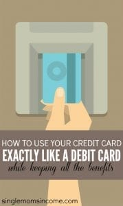 How to Use Your Credit Card Exactly Like a Debit Card (While Still Getting All of the Benefits)