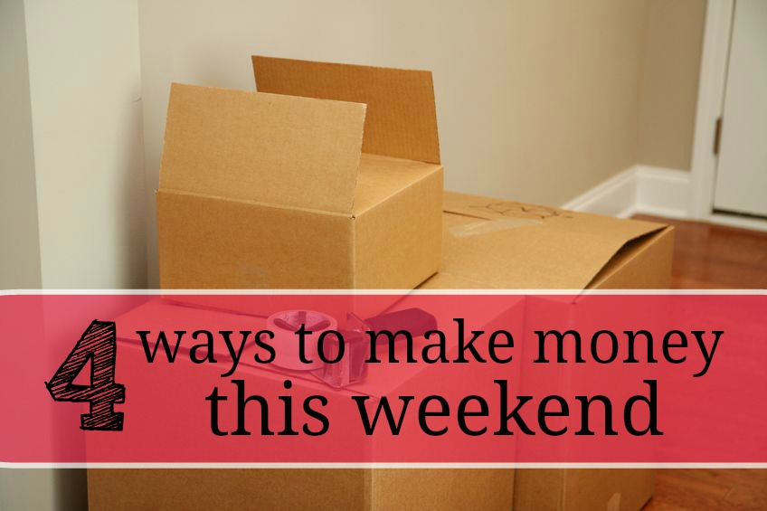 These are some simple and creative ways to earn some extra cash on the fly this weekend and you can even get your family and friends involved.