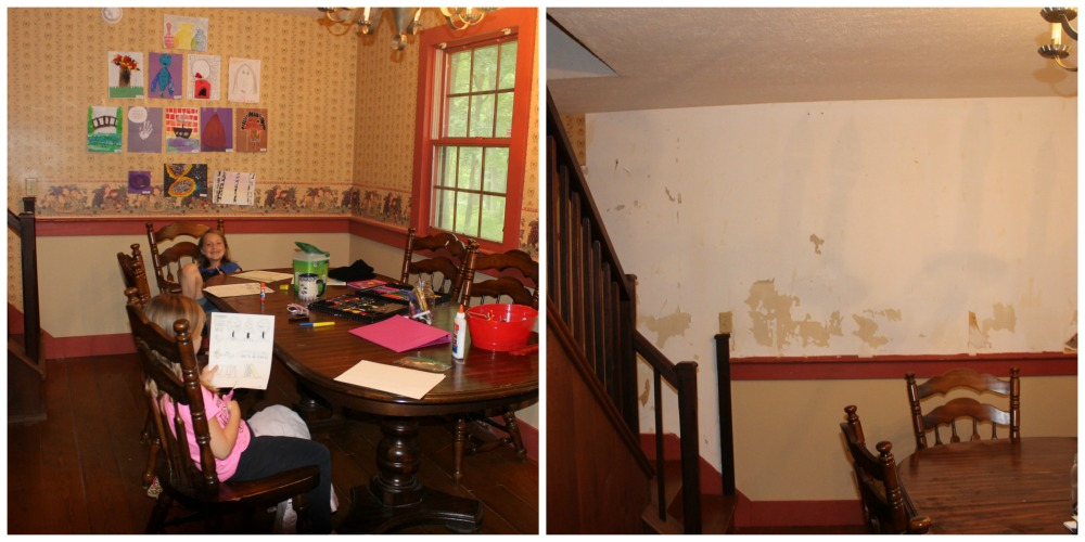 dining room before after