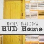 How to Put in a Bid on a HUD Home