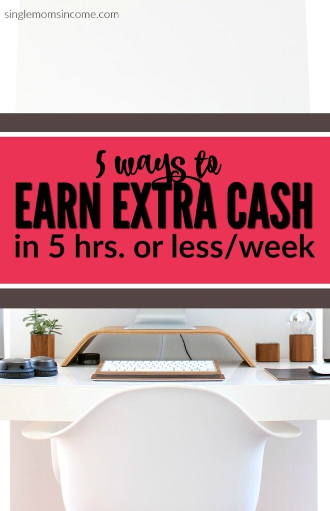If you're strapped on time but need to earn extra cash here are five quick side hustles. These things can be done in five hours or less per week!