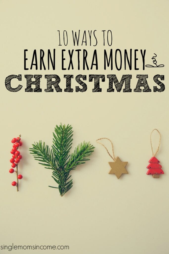 Christmas is right around the corner! If you are in need of some extra cash you still have time. Here are ten ways to earn money for Christmas shopping.