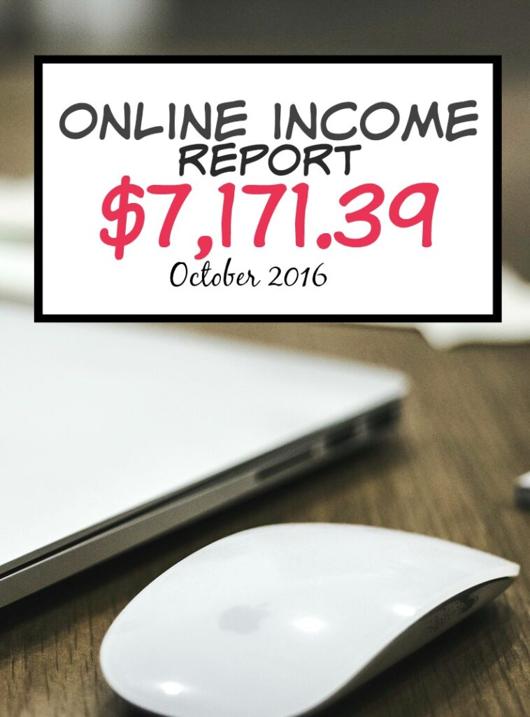October Online Income Report