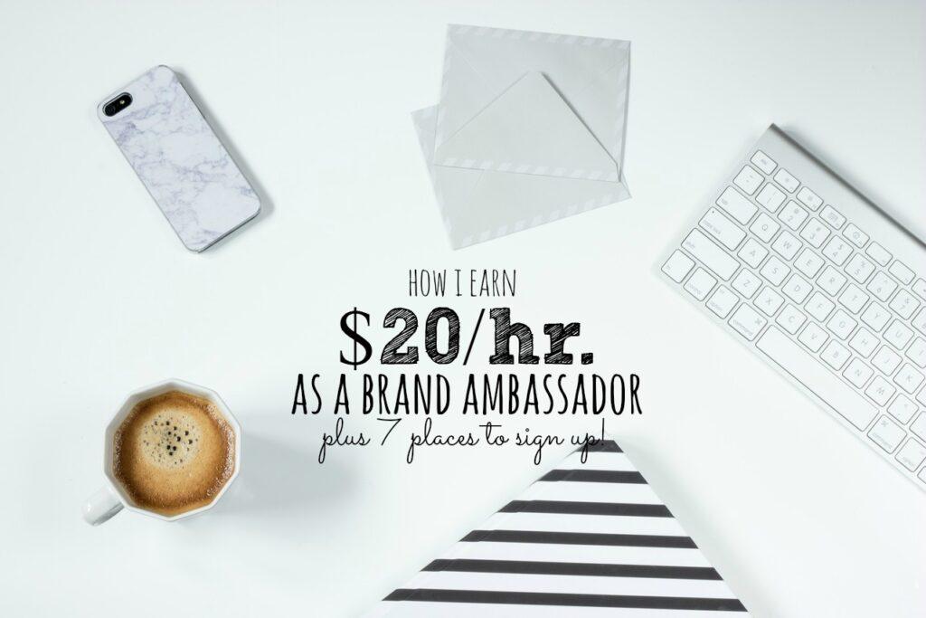 How I Earn 20 Hr As A Brand Ambassador Single Moms Income