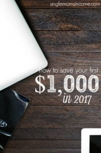 How to Save Your First $1,000 in 2017