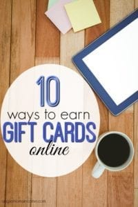 10 Ways to Earn Gift Cards Online