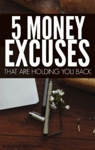 My Response To Your Top 5 Money Excuses