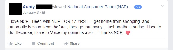 User reviews of NCP on facebook.