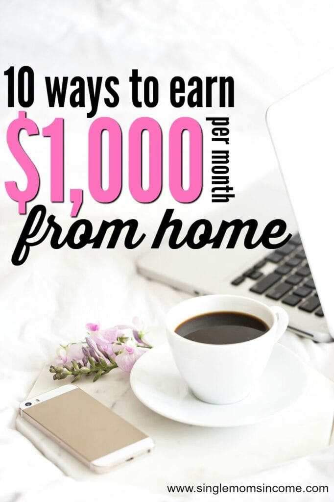 If you're looking for ways to earn $1,000 per month from home here are ten of them. (These are all ranked from lowest pay to highest pay.)