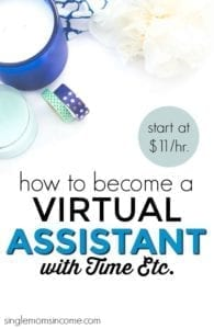 Looking for home based admin or secretarial work? Here's how to become a virtual assistant with Time Etc., how much they pay and more.
