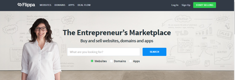 You can buy and sell websites on Flippa.