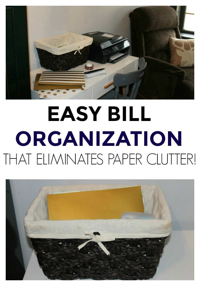My super easy bill filing system eliminates paper clutter, keeps the important things organized, and helps establish a good bill paying system.