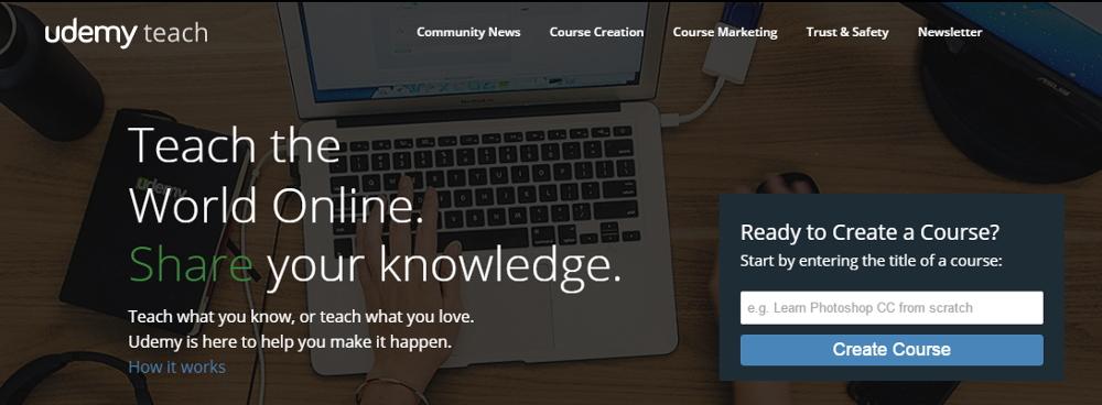You can create online courses with Udemy.