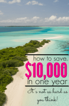 How to Save $10,000 in One Year