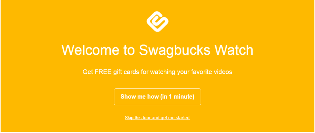 Earn money watching videos with Swagbucks.