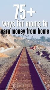 Work from home jobs for moms - over 75 ways for moms to make money from home!