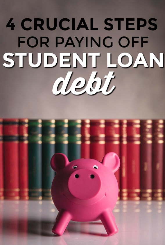 Student loan debt can really drag you down if left unchecked. Here's how to pay down student loan debt after college in four steps.