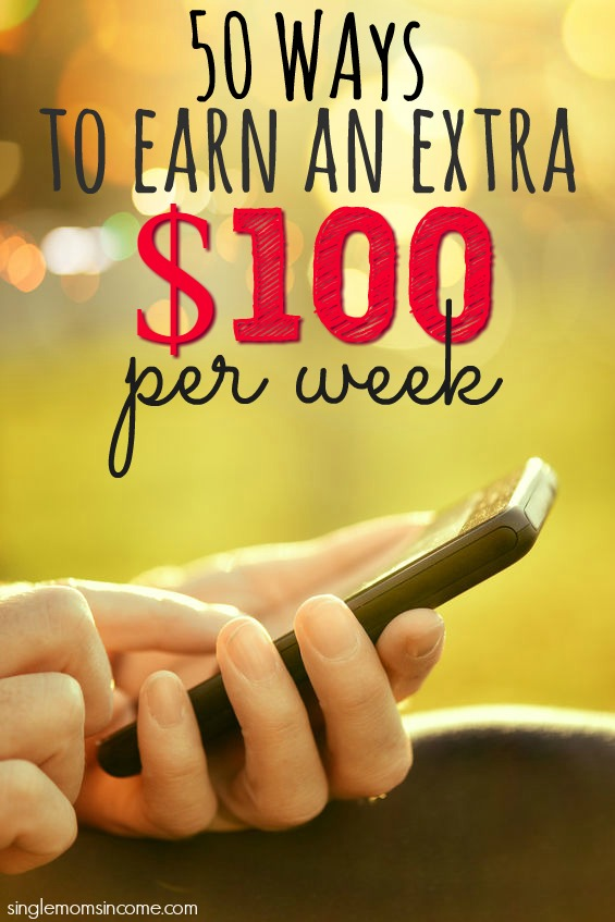 Looking for ways to earn an extra $100 per week? I've got more than fifty of them that will help you make more money in no time.